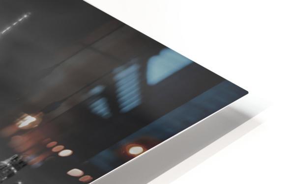 NEW YORK CITY Monochrome Night Impressions | Panoramic HD Sublimation Metal print