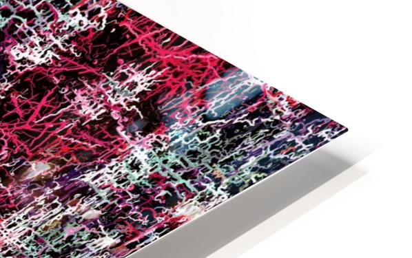 psychedelic abstract art pattern texture background in red pink black HD Sublimation Metal print