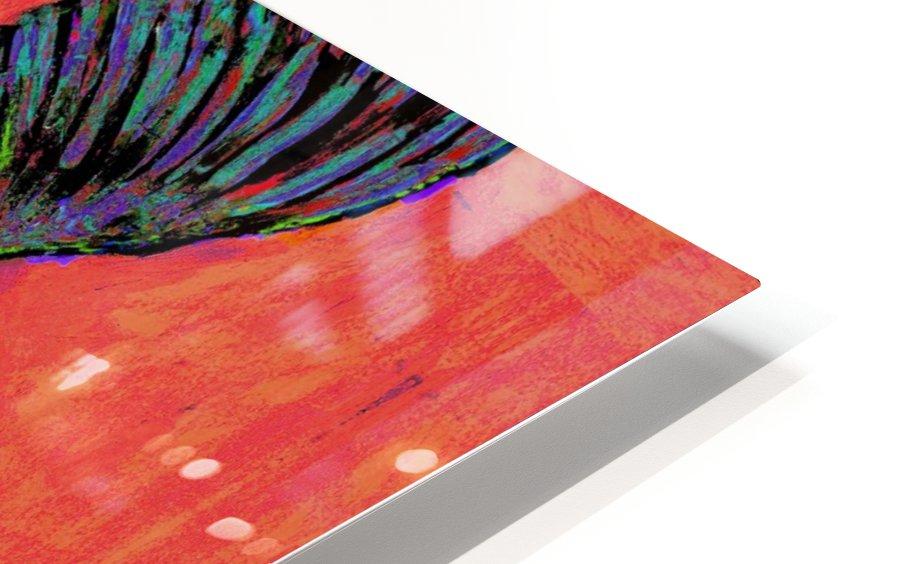 HUMMINGBIRD ON ORANGE HD Sublimation Metal print