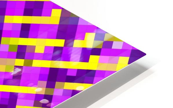 geometric pixel square pattern abstract background in pink purple yellow HD Sublimation Metal print