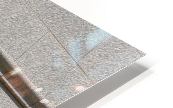 Man Holding Tiffany Clock HD Sublimation Metal print