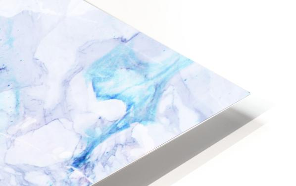 blue abstract marble HD Sublimation Metal print