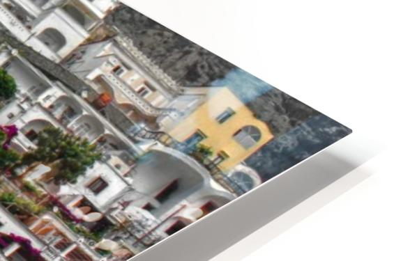 Positan village -  colourful houses HD Sublimation Metal print