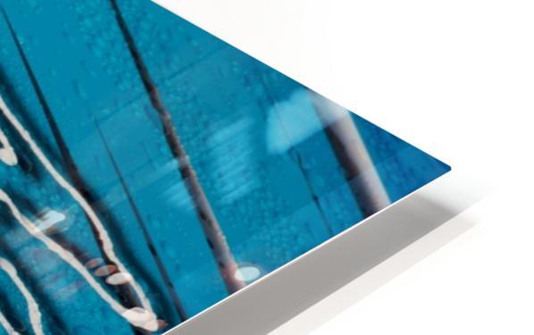 Diagonally Blue HD Sublimation Metal print
