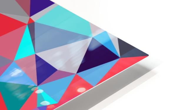 geometric triangle polygon pattern abstract background in red blue purple HD Sublimation Metal print