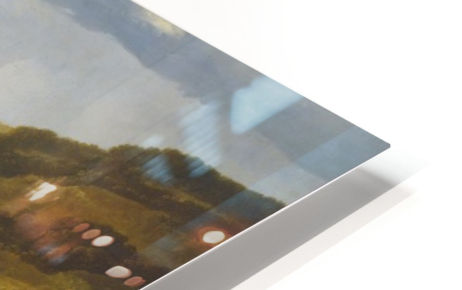 Rivierlandschap met ruiters HD Sublimation Metal print