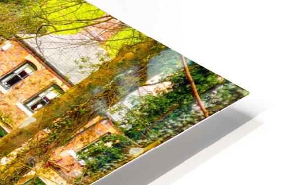 Reflective canal corner HD Sublimation Metal print