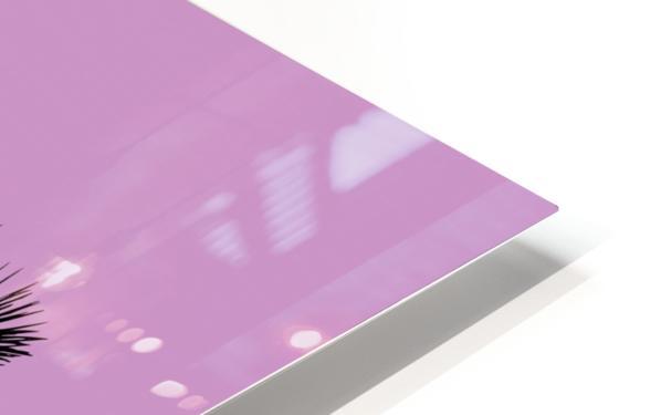 Graphic Art PALM TREES LA | pink HD Sublimation Metal print