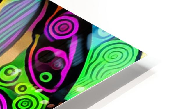 Colorful Abstract Ornament HD Sublimation Metal print