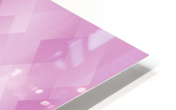 Diamond Shape Pink Art HD Sublimation Metal print