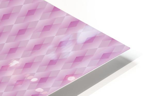 Diamond Shape Pattern Artwork HD Sublimation Metal print