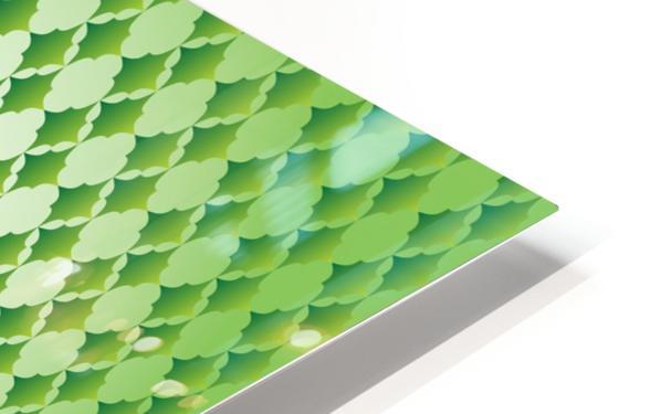 Islamic Art Green Color Artwork HD Sublimation Metal print