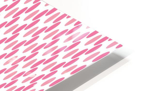 Pink Seamless Pattern Artwork HD Sublimation Metal print