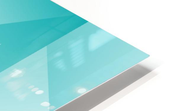 Bluish Trendy Triangle Art HD Sublimation Metal print