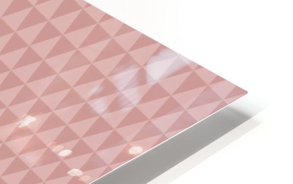 ORANGE Triangle Shape Seamless Pattern Background    HD Sublimation Metal print