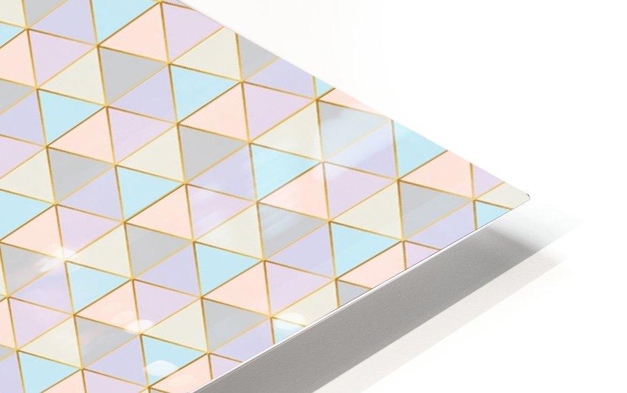 Hexagon Color Art Pattern HD Sublimation Metal print