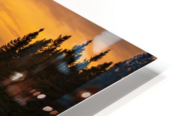 Golden sunset  HD Sublimation Metal print