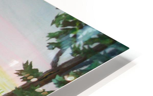 Fox Family HD Sublimation Metal print