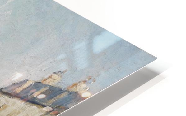 Quay of the River Long, Village, Sun HD Sublimation Metal print