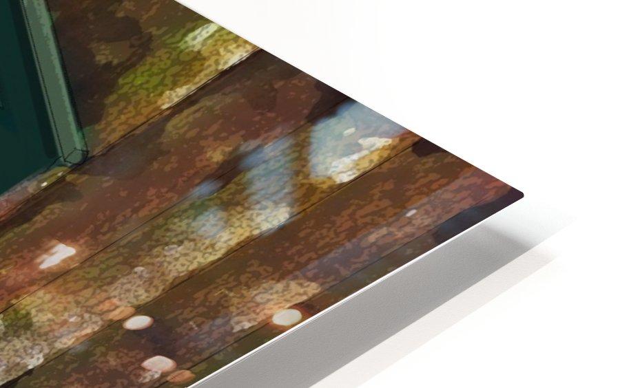 The Hedges Adirondack Window HD Sublimation Metal print