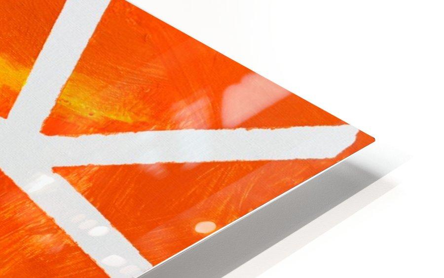 Geometric Orange. Jessica B HD Sublimation Metal print