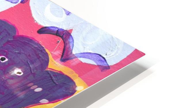 Purple Elephants. Michael D. HD Sublimation Metal print