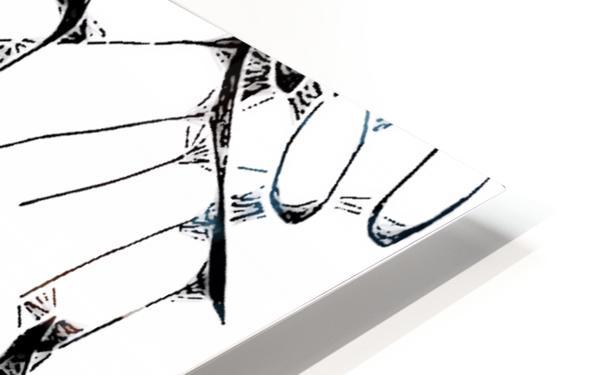 Cactus Sunrise Cartoon Sketch HD Sublimation Metal print