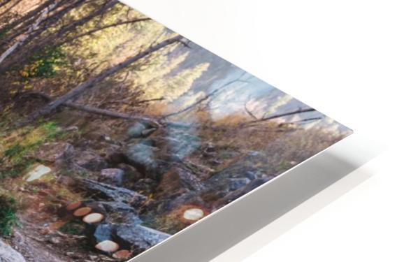Log Block Creek HD Sublimation Metal print