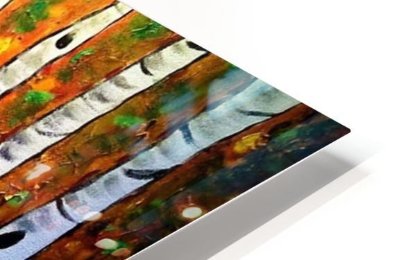 Funky Fall Birch HD Sublimation Metal print