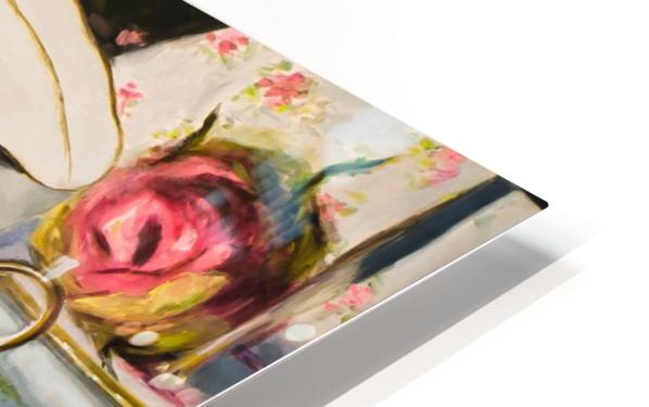 Cups and roses  still life oil painting  HD Sublimation Metal print