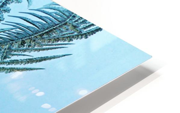 Frosty Blue HD Sublimation Metal print
