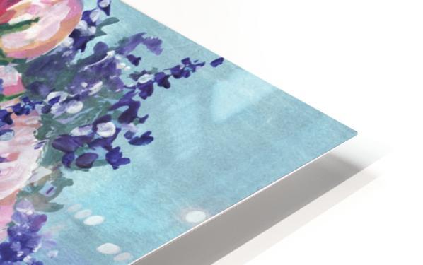 Beautiful Impressionistic Flowers HD Sublimation Metal print