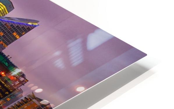 LON 008 Canary Wharf Reflection  HD Sublimation Metal print