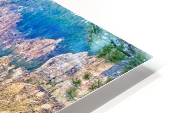 Yellowstone Falls Digital Painting Landscape 52 70 200px HD Sublimation Metal print