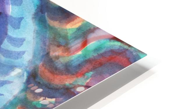 Watercolor abstract spiral staircase HD Sublimation Metal print