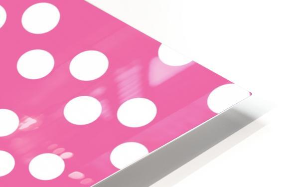 HOT PINK Polka Dots HD Sublimation Metal print