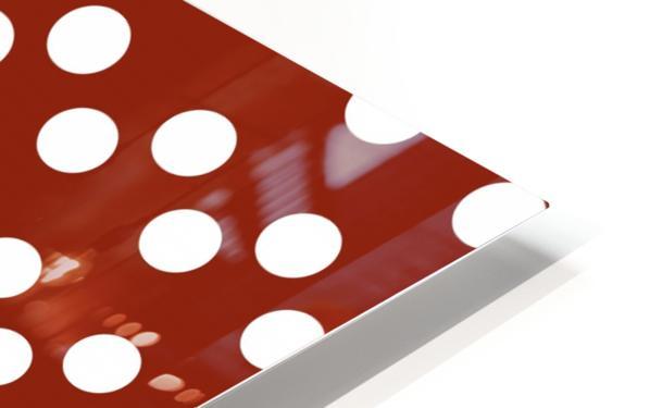 Crimson Polka Dots HD Sublimation Metal print