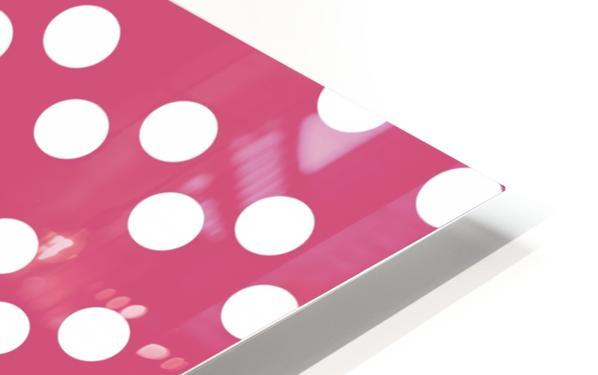CRANBERRY Polka Dots HD Sublimation Metal print