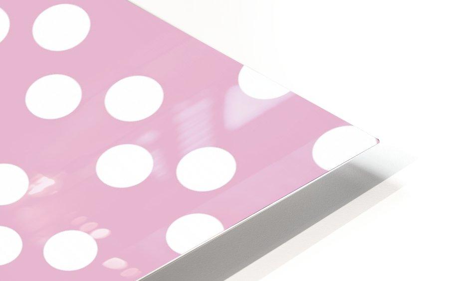 Sweet Lilac Polka Dots HD Sublimation Metal print