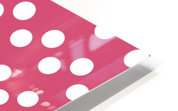 Sweet Pink Polka Dots HD Sublimation Metal print