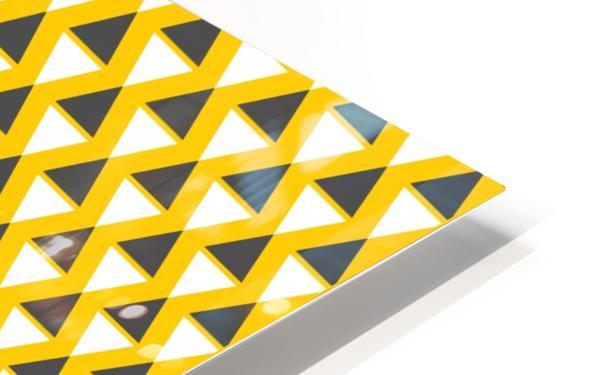 Yellow   pyramid HD Sublimation Metal print