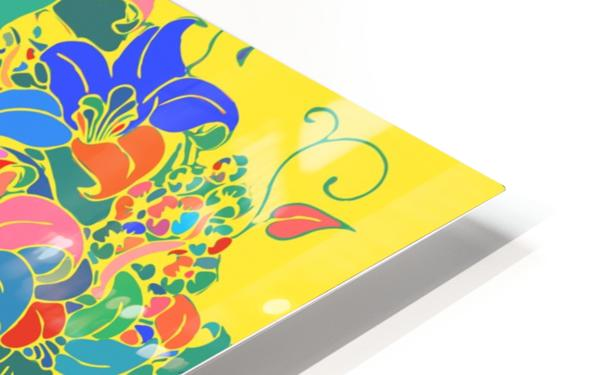 Vibrant Floral Design  HD Sublimation Metal print