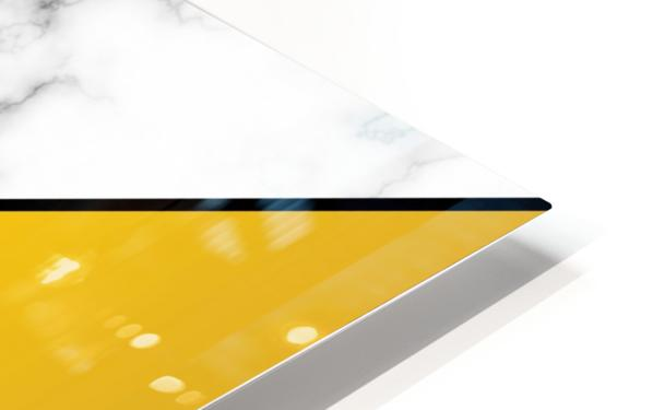 ABSTRACT MODERN YELLOW MARBLE HD Sublimation Metal print