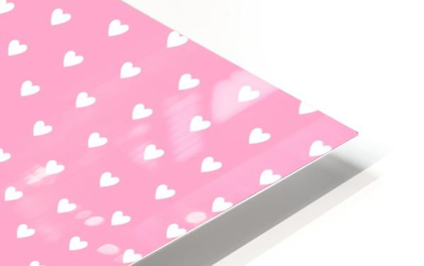 Carnation Pink Heart Shape Pattern HD Sublimation Metal print