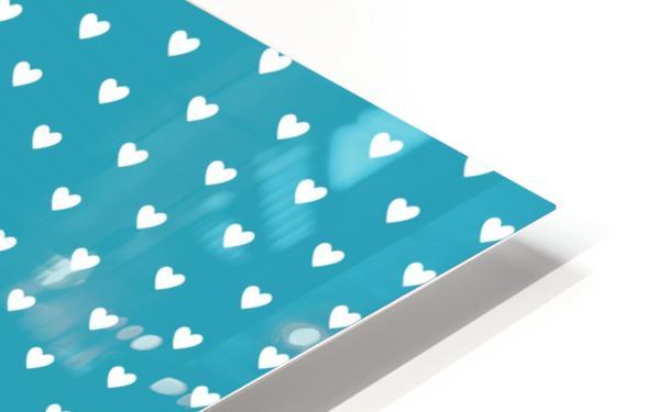 Light Sea Green Heart Shape Pattern HD Sublimation Metal print