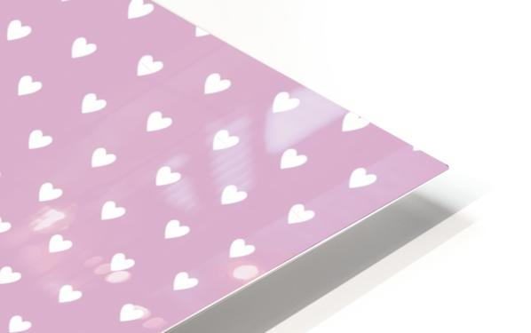 Lavender Heart Shape Pattern HD Sublimation Metal print