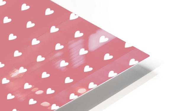 Light Red Heart Shape Pattern HD Sublimation Metal print