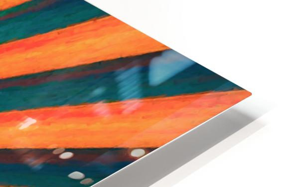 Composition in Orange Blue & Green HD Sublimation Metal print