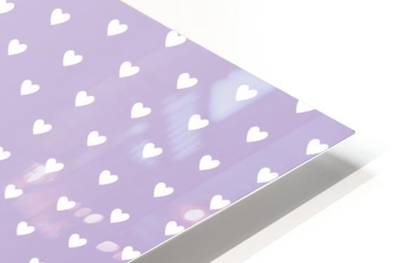 Spring Purple Heart Shape Pattern HD Sublimation Metal print