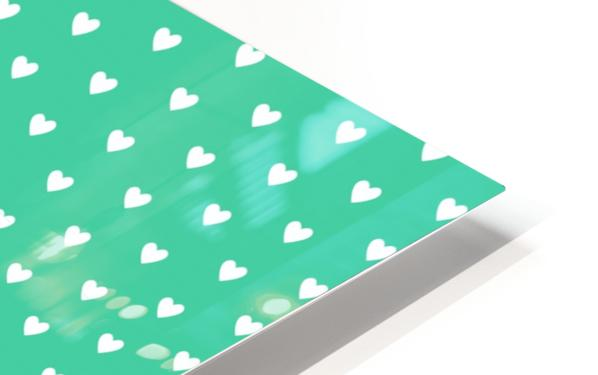 Shamrock Heart Shape Pattern HD Sublimation Metal print